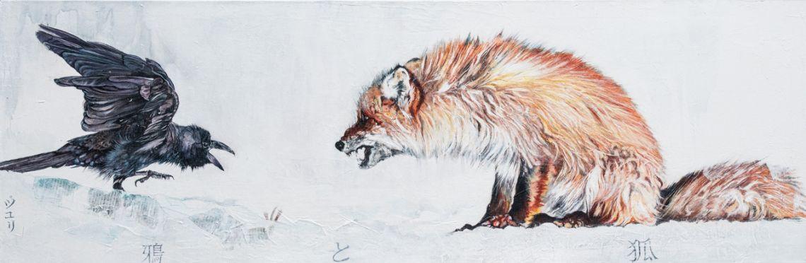 Le corbeau et le renard (sur la banquise)